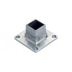 PLATINE SOL/MUR POUR 60X60X2MM,AISI316 BROSSE