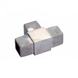 RACCORD EN T, 40 X 40 X 2,0 MM,AISI316 BROSSE