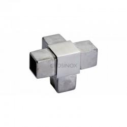 RACCORD 4 DEPARTS, 40 X 40 X 2,0 MM,AISI316 BROSSE